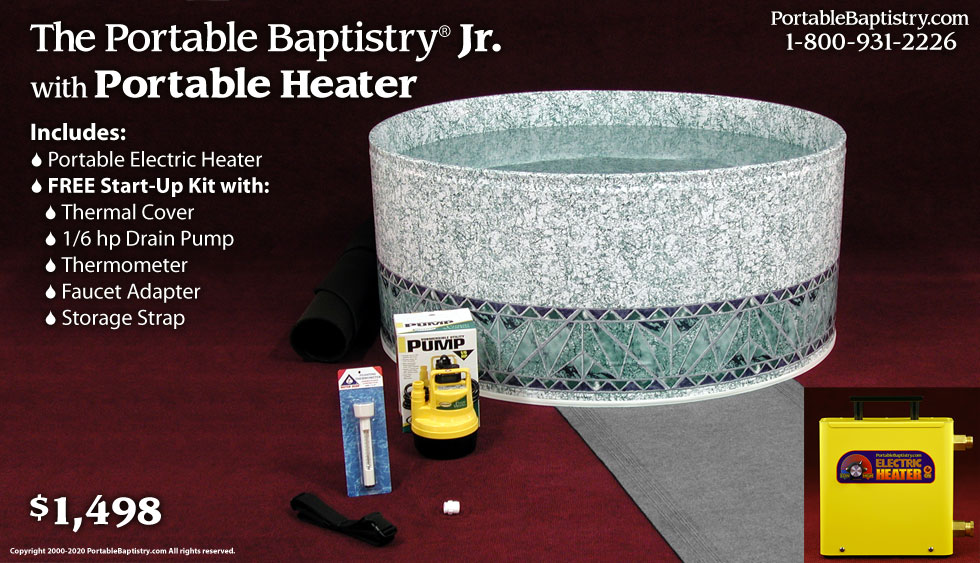 Portable Baptistry Jr With Portable Electric Heater